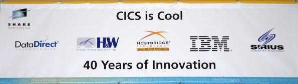 CICS banner at Share 2009