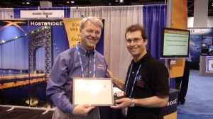Hostbridge Technologies receiving their letter of thanks